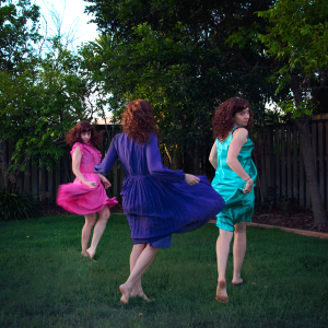 Backyard dancing girls