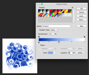 Use gradient map to add a range of colour tones.