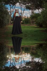 GIrl's reflection