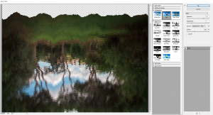 Use glass filter to give ripple texture