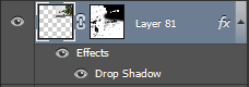 Right click on Drop Shadow to create a new layer