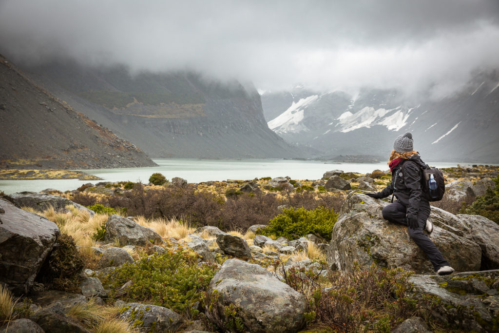 Staring at mountains, Hooker Valley, New Zealand