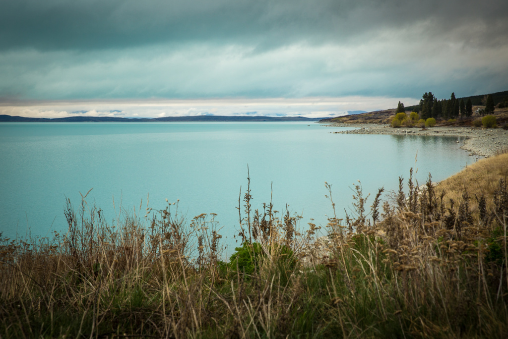 glacial, lake, new zealand