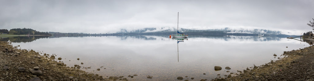 reflection, lake, te anau, panorama