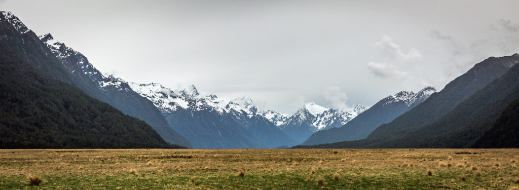 snow capped mountains, milford sound