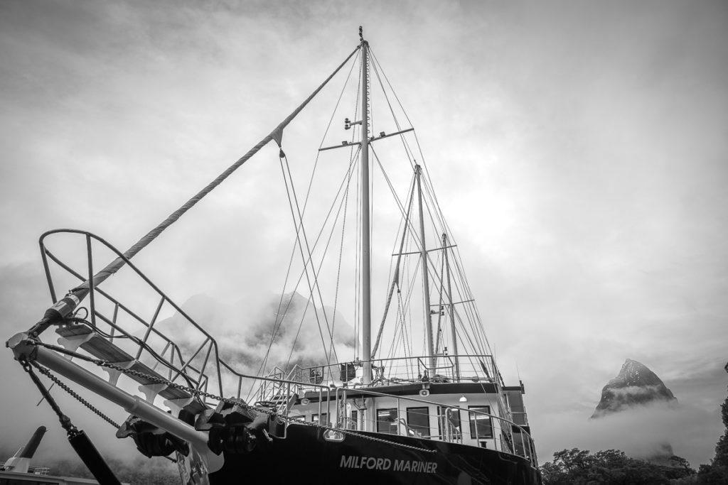 milford mariner, milford sound, ship, real journeys