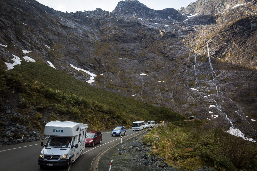 homer tunnel, milford road, milford sound