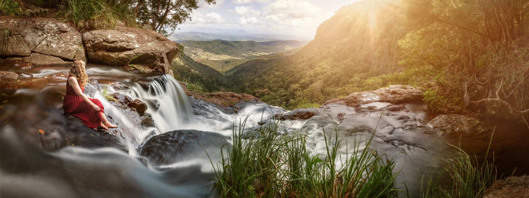 o'reilly's, rainforest, waterfall, morans falls, hiking, gold coast, lamington national park, queensland