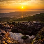 Edinburgh, travel, landscape, Arthur's Seat, sunrise