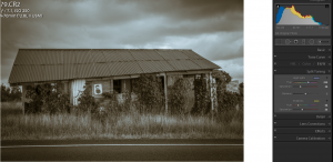 Adding a sepia tint in Lightroom