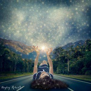 conceptual, fine art, stars, giant, road, composite, manipulation, art