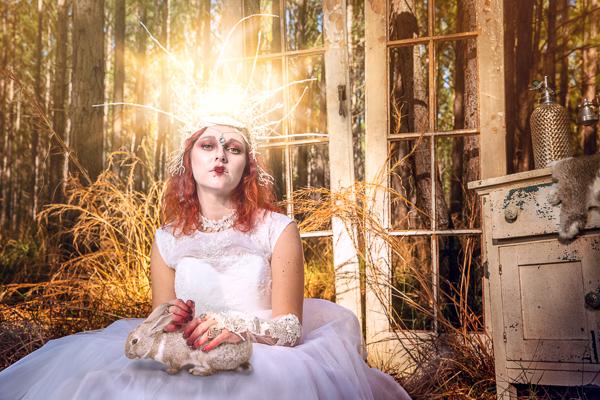 alice in wonderland, red queen, photography, photoshoot, rabbit